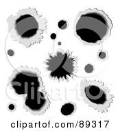 Royalty Free RF Clipart Illustration Of A Digital Collage Of Bullet Holes Through Metal