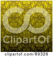 Royalty Free RF Clipart Illustration Of A Golden Floral Background Pattern