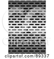 Royalty Free RF Clipart Illustration Of A Stainless Steel Grate Background