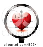 Royalty Free RF Clipart Illustration Of A Rifle Target Focused On A Red Heart by michaeltravers