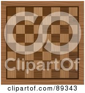 Royalty Free RF Clipart Illustration Of A Wooden Chess Board Background