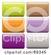 Royalty Free RF Clipart Illustration Of A Digital Collage Of Shiny Colorful 3d Rectangle App Buttons by michaeltravers