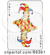 Royalty Free RF Clipart Illustration Of A Joker Playing Card Design Version 1
