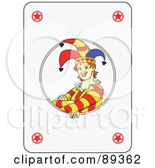 Royalty Free RF Clipart Illustration Of A Joker Playing Card Design Version 2 by Frisko