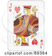 Royalty Free RF Clipart Illustration Of A Jack Of Hearts Playing Card Design by Frisko #COLLC89364-0114