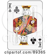 Royalty-Free (RF) Clipart Illustration of a King Of Clubs Playing Card Design by Frisko
