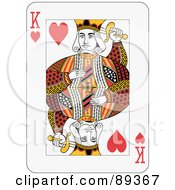 King Of Hearts Playing Card Design by Frisko
