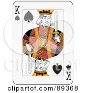 Royalty Free RF Clipart Illustration Of A King Of Spades Playing Card Design