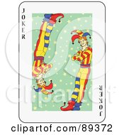 Royalty Free RF Clipart Illustration Of A Joker Playing Card Design Version 4