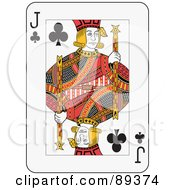 Royalty Free RF Clipart Illustration Of A Jack Of Clubs Playing Card Design by Frisko