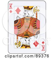 Royalty Free RF Clipart Illustration Of A King Of Diamonds Playing Card Design by Frisko