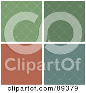 Royalty Free RF Clipart Illustration Of A Digital Collage Of Sewn Pattern Backgrounds Version 1 by Frisko