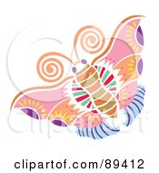 Royalty Free RF Clipart Illustration Of A Colorful And Ornate Patterned Butterfly Version 2 by Cherie Reve