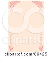 Royalty Free RF Clipart Illustration Of A Pink Wedding Border With Corner Elements by Cherie Reve