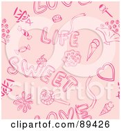Pink Love Life Sweet Valentine Background