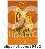 Royalty Free RF Clipart Illustration Of A Man In A Yoga Pose Version 4
