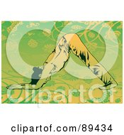 Royalty Free RF Clipart Illustration Of A Woman In A Yoga Pose Version 8 by mayawizard101
