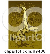 Royalty Free RF Clipart Illustration Of A Man In A Yoga Pose Version 1