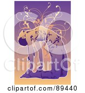 Royalty Free RF Clipart Illustration Of A Woman In A Yoga Pose Version 5