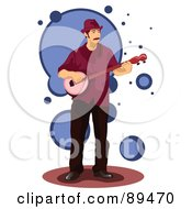 Royalty Free RF Clipart Illustration Of A Man Standing And Playing A Banjo by mayawizard101
