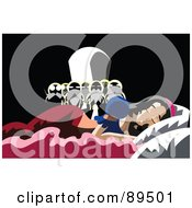 Royalty Free RF Clipart Illustration Of The Seven Dwarfs Discovering Snow White Asleep In Their Beds by mayawizard101 #COLLC89501-0158