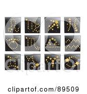 Digital Collage Of Golden Star Horoscope App Icons