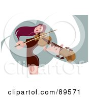 Royalty Free RF Clipart Illustration Of A Female Violinist With Purple Hair