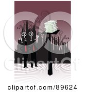Royalty Free RF Clipart Illustration Of Male Businessmen Wondering Where To Invest Their Money