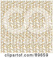 Royalty Free RF Clipart Illustration Of A Seamless Tulip Pattern Background