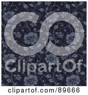 Royalty Free RF Clipart Illustration Of A Seamless Floral Pattern Background Version 43