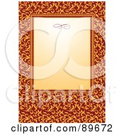Royalty Free RF Clipart Illustration Of An Invitation Border And Frame With Copyspace Version 30