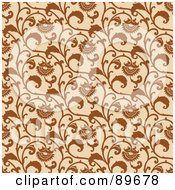 Royalty Free RF Clipart Illustration Of A Seamless Sunflower Pattern Background