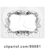 Royalty Free RF Clipart Illustration Of An Invitation Border And Frame With Copyspace Version 22