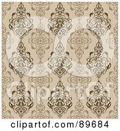 Royalty Free RF Clipart Illustration Of A Seamless Crest Pattern Background Version 12