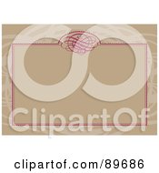 Royalty Free RF Clipart Illustration Of An Invitation Border And Frame With Copyspace Version 29