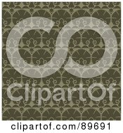 Royalty Free RF Clipart Illustration Of A Seamless Green Shell Pattern Background