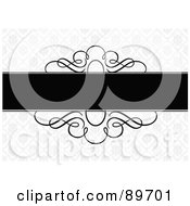 Royalty Free RF Clipart Illustration Of An Invitation Border And Frame With Copyspace Version 21