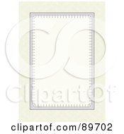 Royalty Free RF Clipart Illustration Of An Invitation Border And Frame With Copyspace Version 17