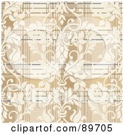 Royalty Free RF Clipart Illustration Of A Seamless Plaid Pattern Background Version 2