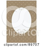 Royalty Free RF Clipart Illustration Of An Invitation Border And Frame With Copyspace Version 16