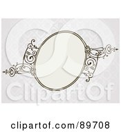 Royalty Free RF Clipart Illustration Of An Invitation Border And Frame With Copyspace Version 20