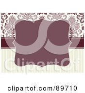Royalty Free RF Clipart Illustration Of An Invitation Border And Frame With Copyspace Version 18