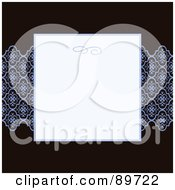 Royalty Free RF Clipart Illustration Of An Invitation Border And Frame With Copyspace Version 23