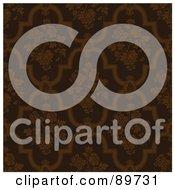 Royalty Free RF Clipart Illustration Of A Seamless Rose Pattern Background Version 2