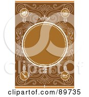 Royalty Free RF Clipart Illustration Of An Invitation Border And Frame With Copyspace Version 32