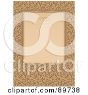 Royalty Free RF Clipart Illustration Of An Invitation Border And Frame With Copyspace Version 31