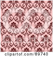 Royalty Free RF Clipart Illustration Of A Seamless Orchid Pattern Background