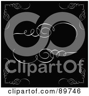 Royalty Free RF Clipart Illustration Of A Digital Collage Of Swirly Design Elements And Corners On Black by BestVector
