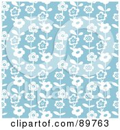 Royalty Free RF Clipart Illustration Of A Seamless Daisy Pattern Background Version 5 by BestVector