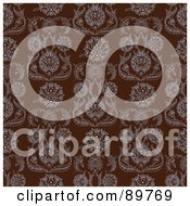 Royalty Free RF Clipart Illustration Of A Seamless Damask Pattern Background Version 2